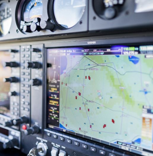 close-up-of-navigational-system-in-cockpit-